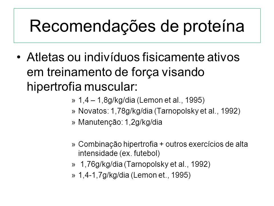Recomendações de proteína