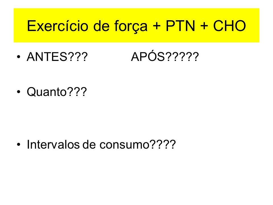 Exercício de força + PTN + CHO
