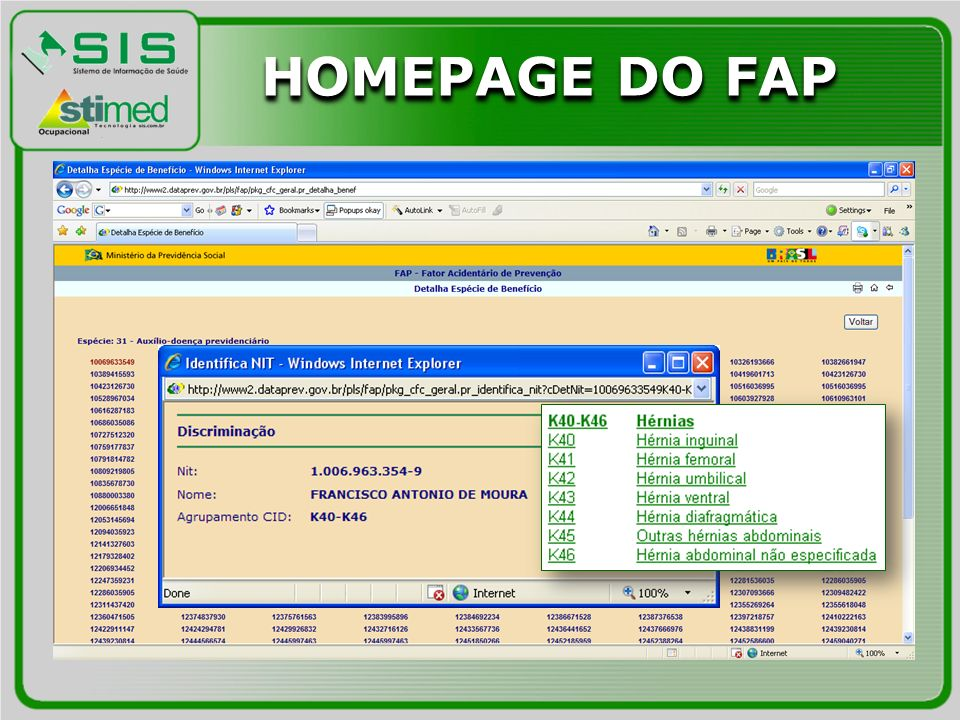 HOMEPAGE DO FAP