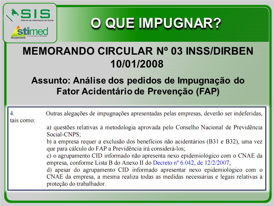 MEMORANDO CIRCULAR Nº 03 INSS/DIRBEN 10/01/2008