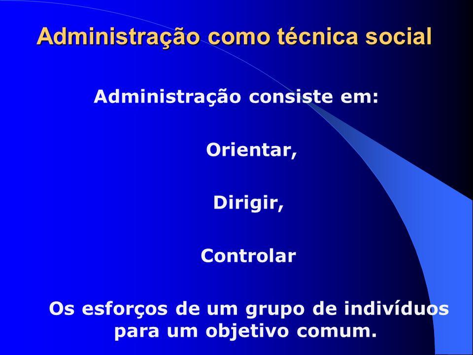 Administração como técnica social