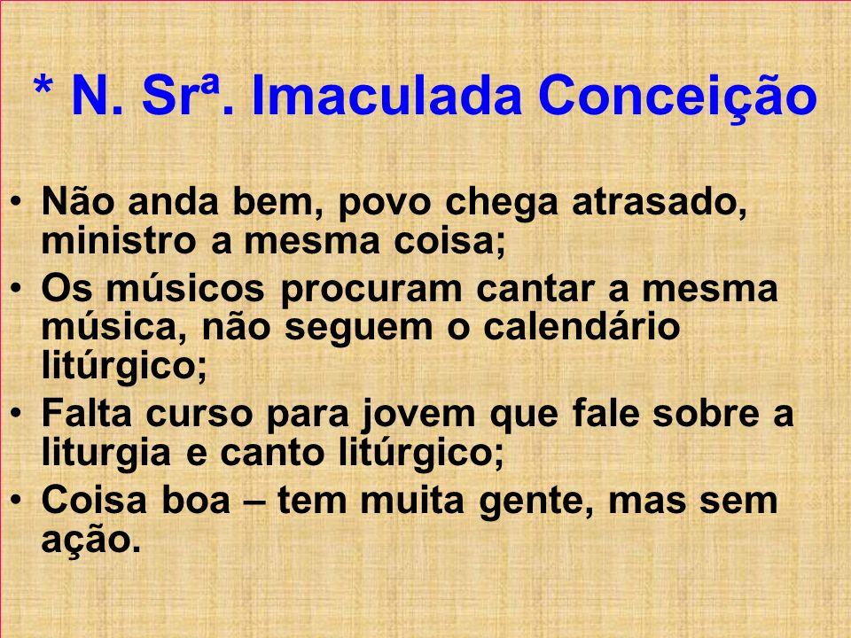 * N. Srª. Imaculada Conceição