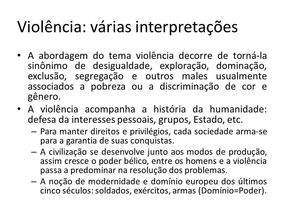 Violência: várias interpretações