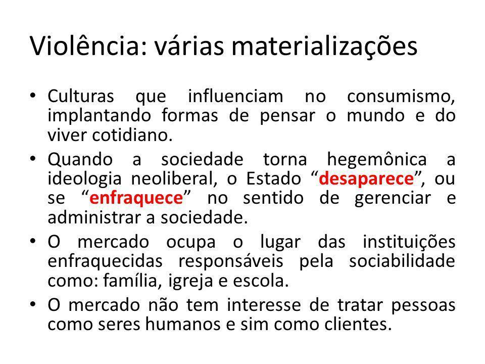 Violência: várias materializações