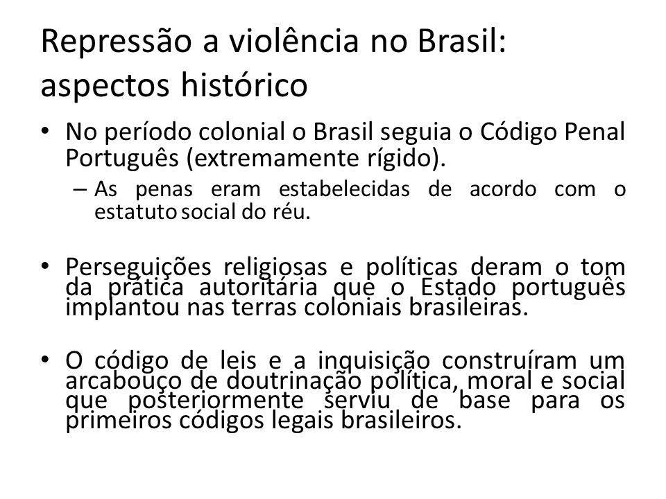Repressão a violência no Brasil: aspectos histórico
