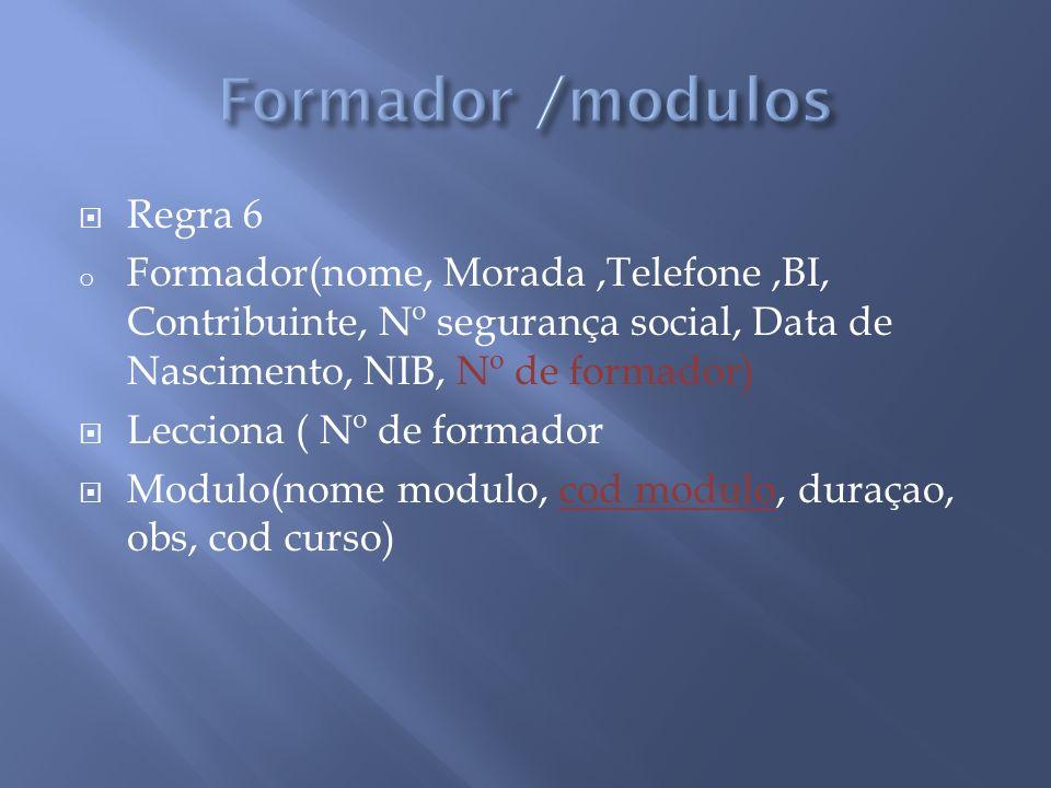 Formador /modulos Regra 6