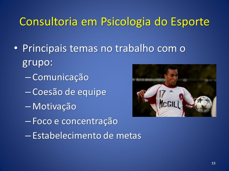 Consultoria em Psicologia do Esporte