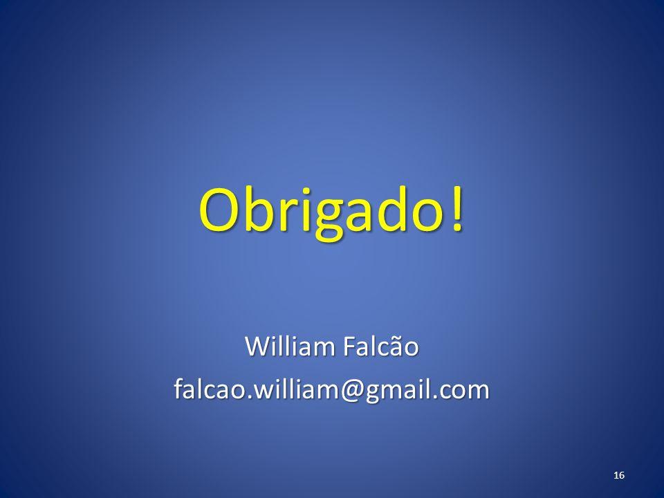 William Falcão falcao.william@gmail.com