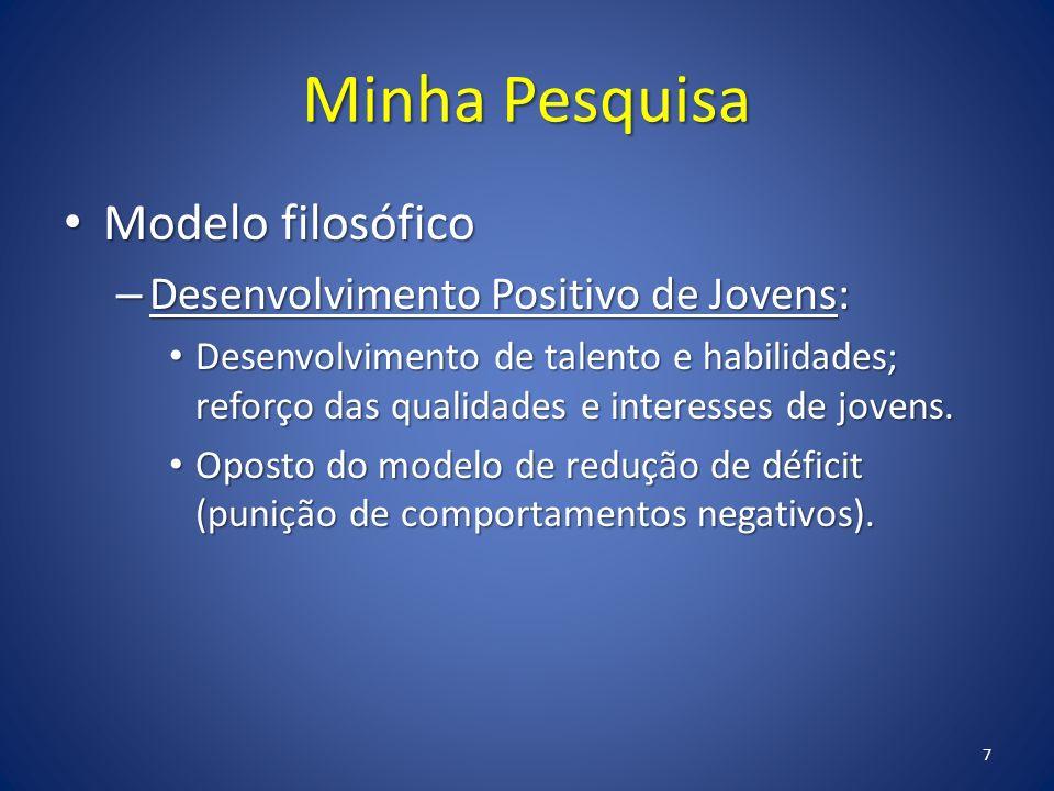 Minha Pesquisa Modelo filosófico Desenvolvimento Positivo de Jovens: