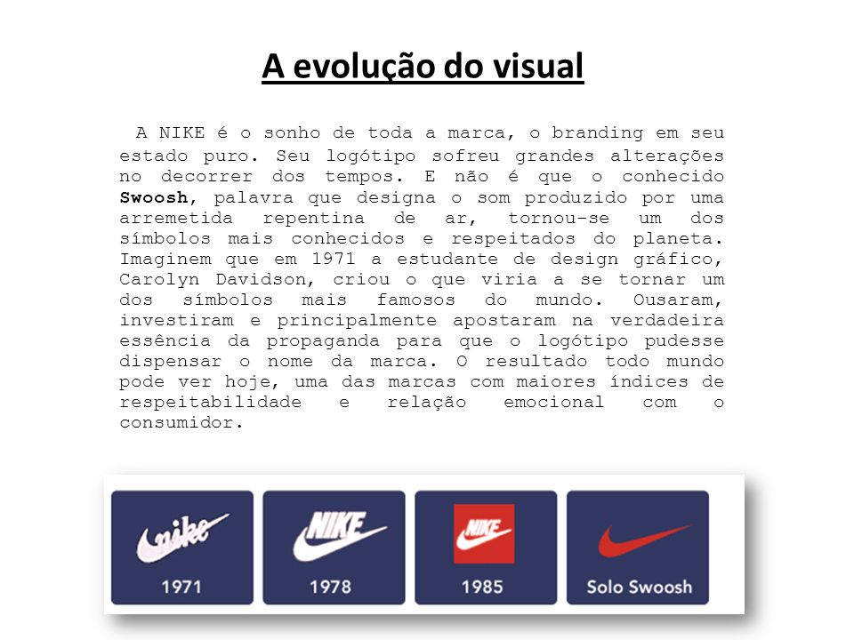 A evolução do visual