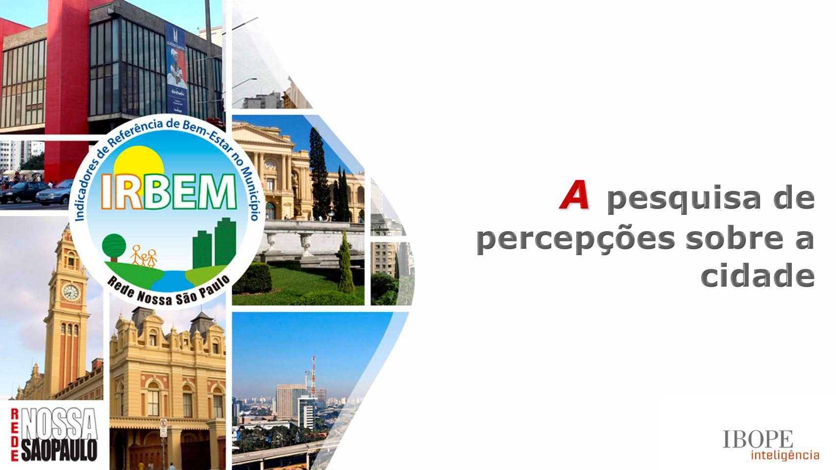 A pesquisa de percepções sobre a cidade