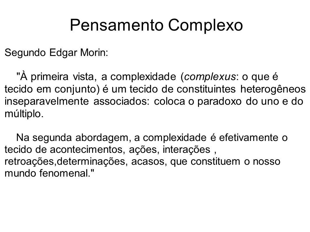 Pensamento Complexo Segundo Edgar Morin: