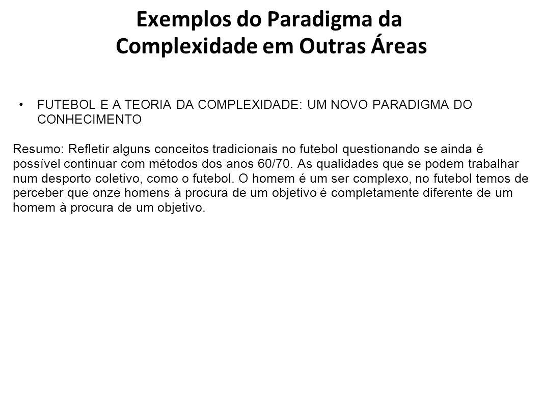 Exemplos do Paradigma da Complexidade em Outras Áreas