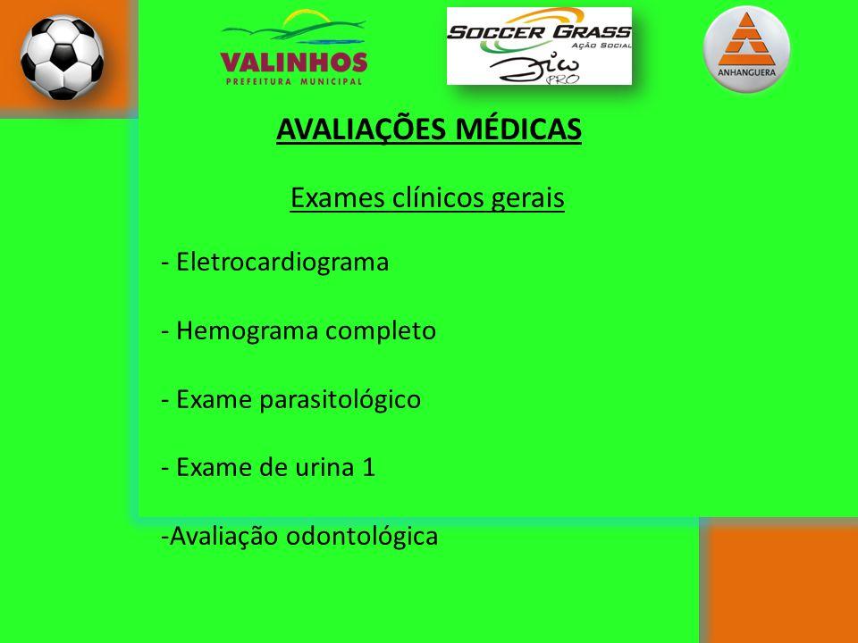 AVALIAÇÕES MÉDICAS Exames clínicos gerais Eletrocardiograma