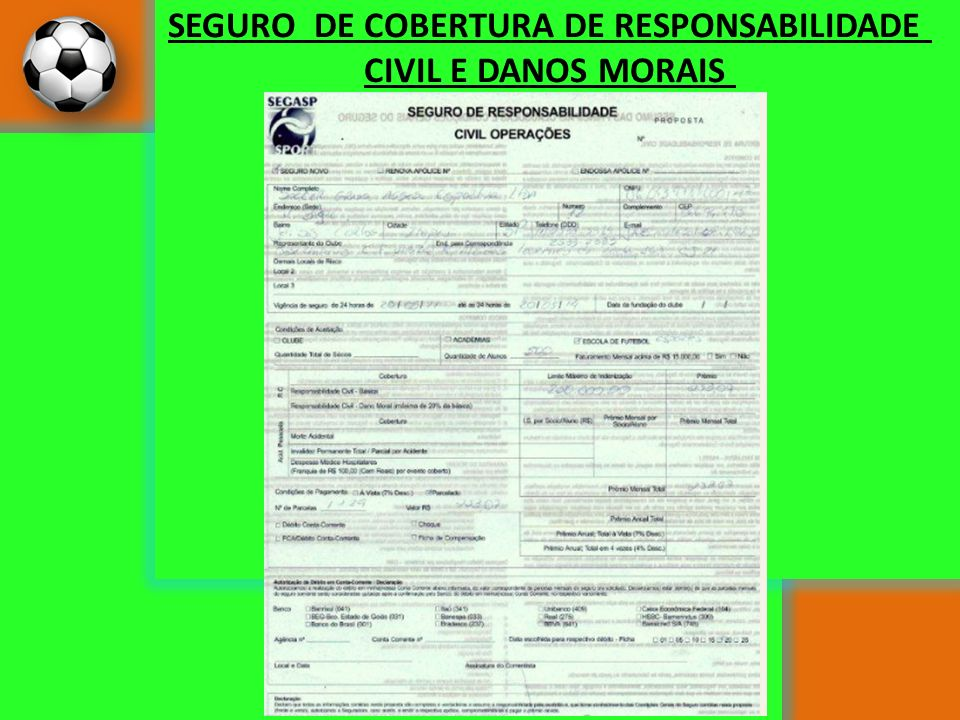 SEGURO DE COBERTURA DE RESPONSABILIDADE