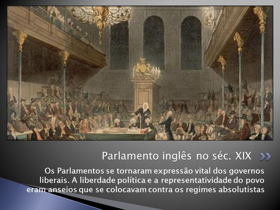 Parlamento inglês no séc. XIX