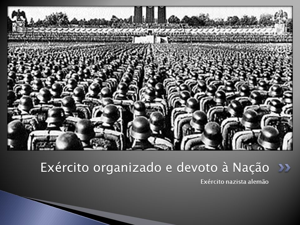 Exército organizado e devoto à Nação