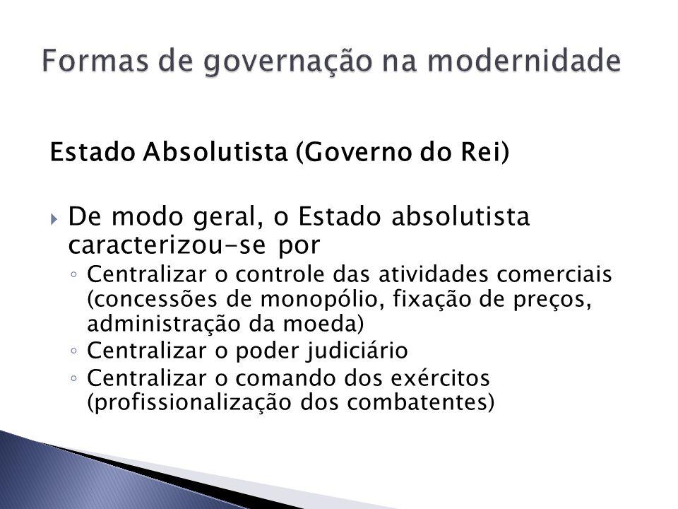 Formas de governação na modernidade