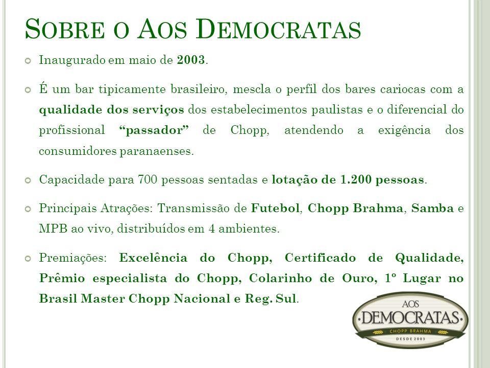 Sobre o Aos Democratas Inaugurado em maio de 2003.