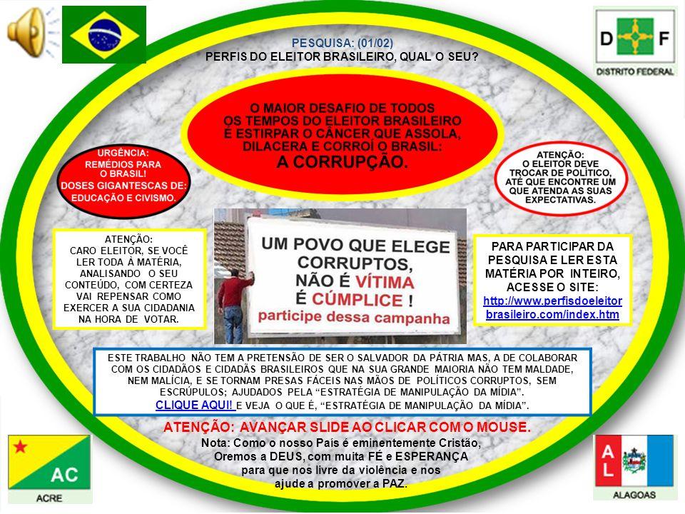 PESQUISA: (01/02) PERFIS DO ELEITOR BRASILEIRO, QUAL O SEU