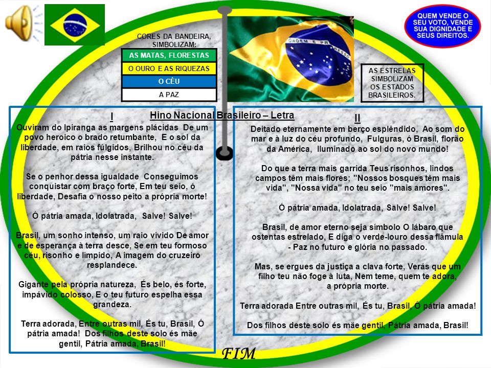 CORES DA BANDEIRA, SIMBOLIZAM: