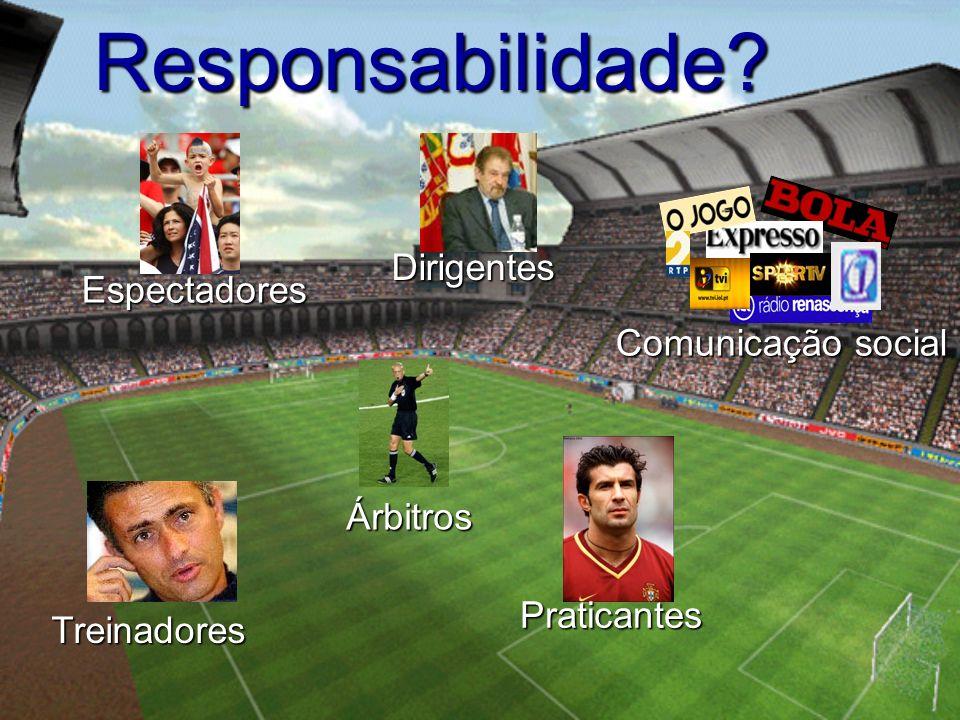 Responsabilidade Dirigentes Espectadores Comunicação social Árbitros