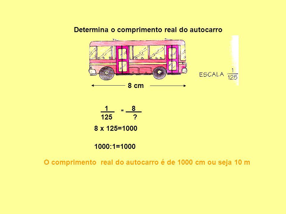 Determina o comprimento real do autocarro
