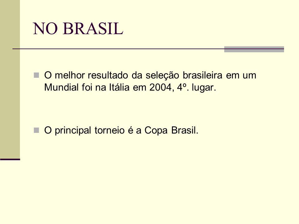 NO BRASIL O melhor resultado da seleção brasileira em um Mundial foi na Itália em 2004, 4º.
