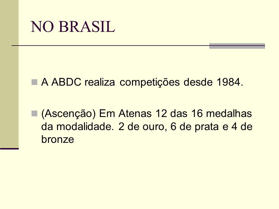 NO BRASIL A ABDC realiza competições desde 1984.