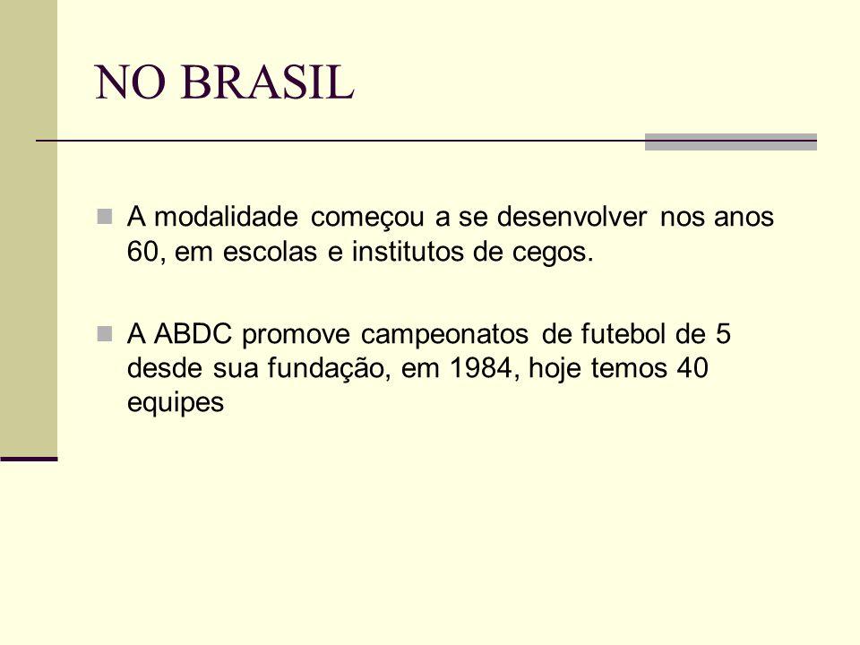 NO BRASIL A modalidade começou a se desenvolver nos anos 60, em escolas e institutos de cegos.