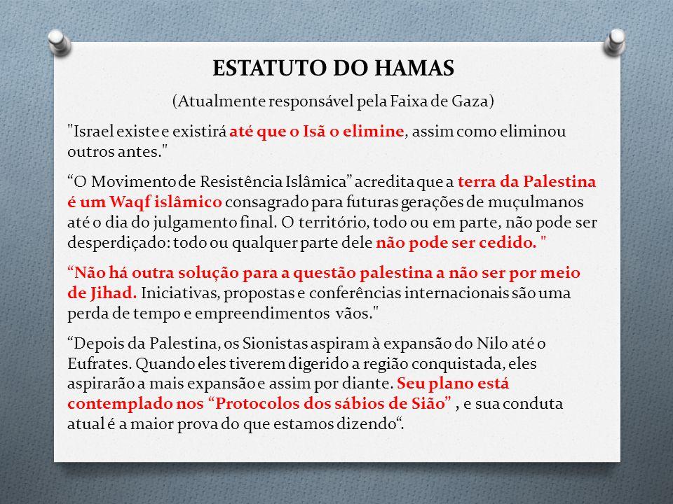 (Atualmente responsável pela Faixa de Gaza)