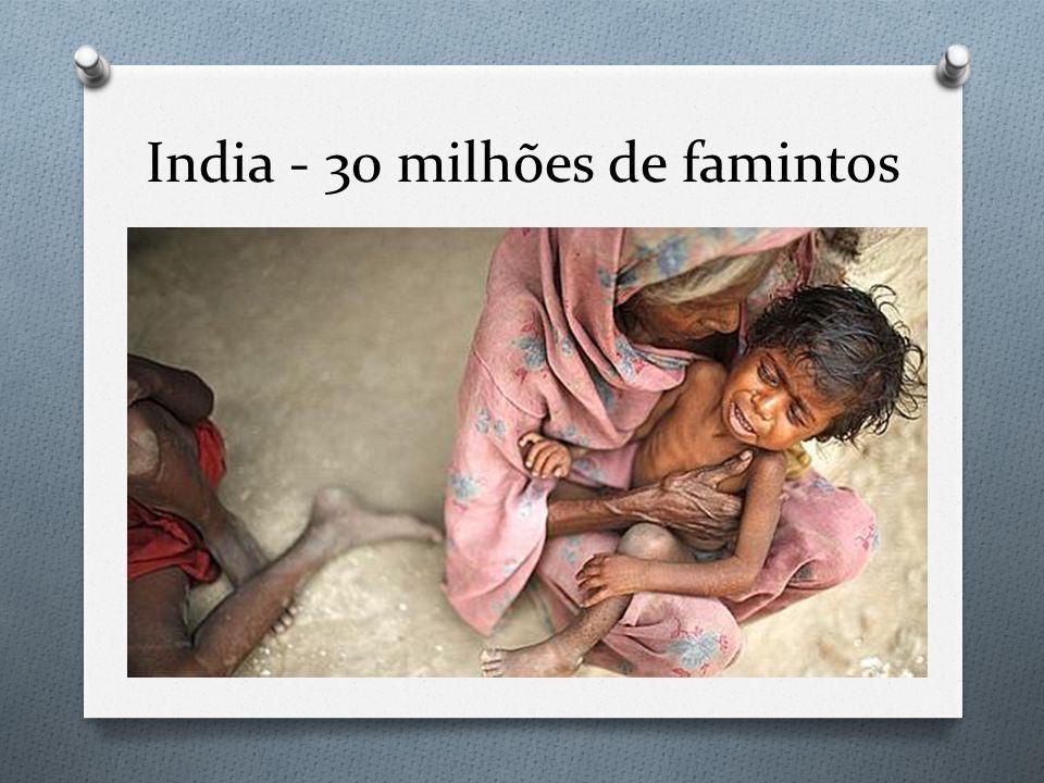 India - 30 milhões de famintos