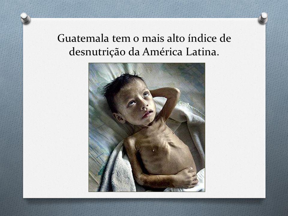Guatemala tem o mais alto índice de desnutrição da América Latina.