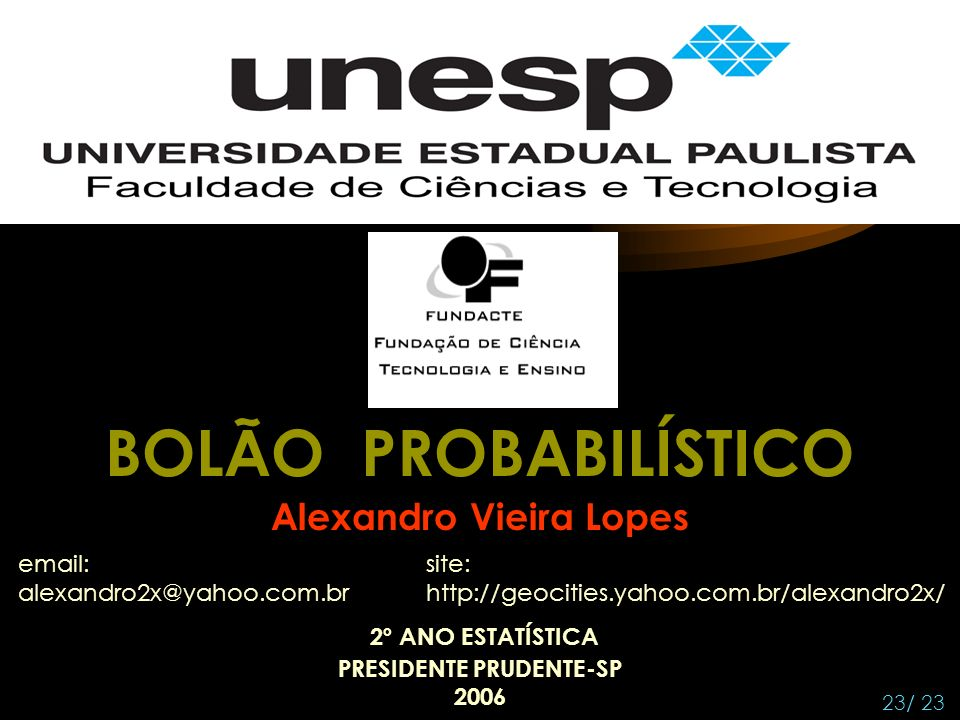 Alexandro Vieira Lopes PRESIDENTE PRUDENTE-SP