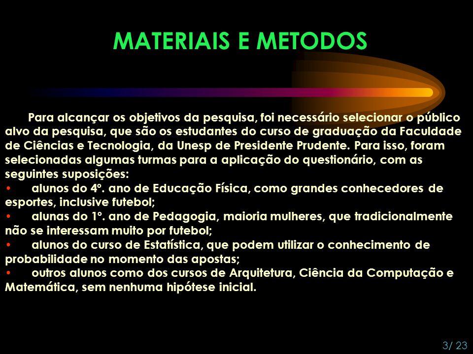 MATERIAIS E METODOS