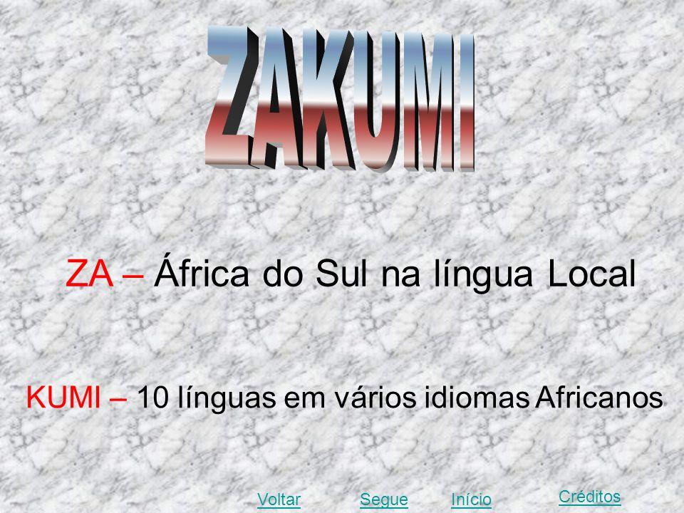 ZA – África do Sul na língua Local
