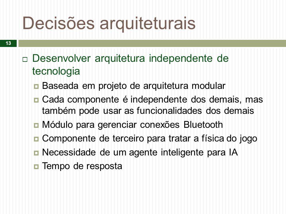Decisões arquiteturais