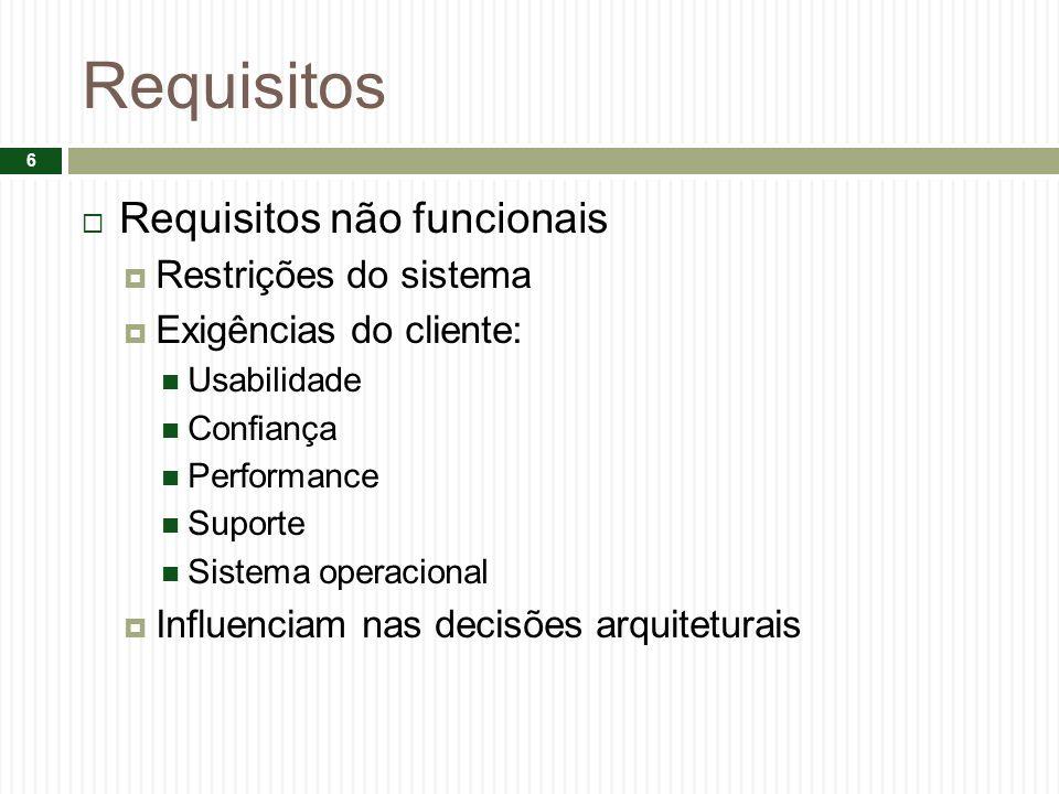 Requisitos Requisitos não funcionais Restrições do sistema