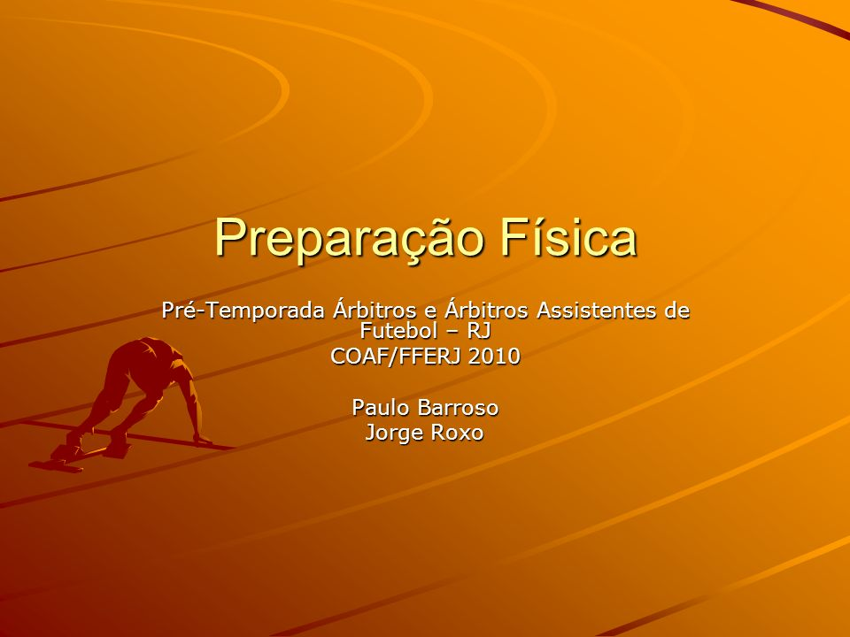 Pré-Temporada Árbitros e Árbitros Assistentes de Futebol – RJ