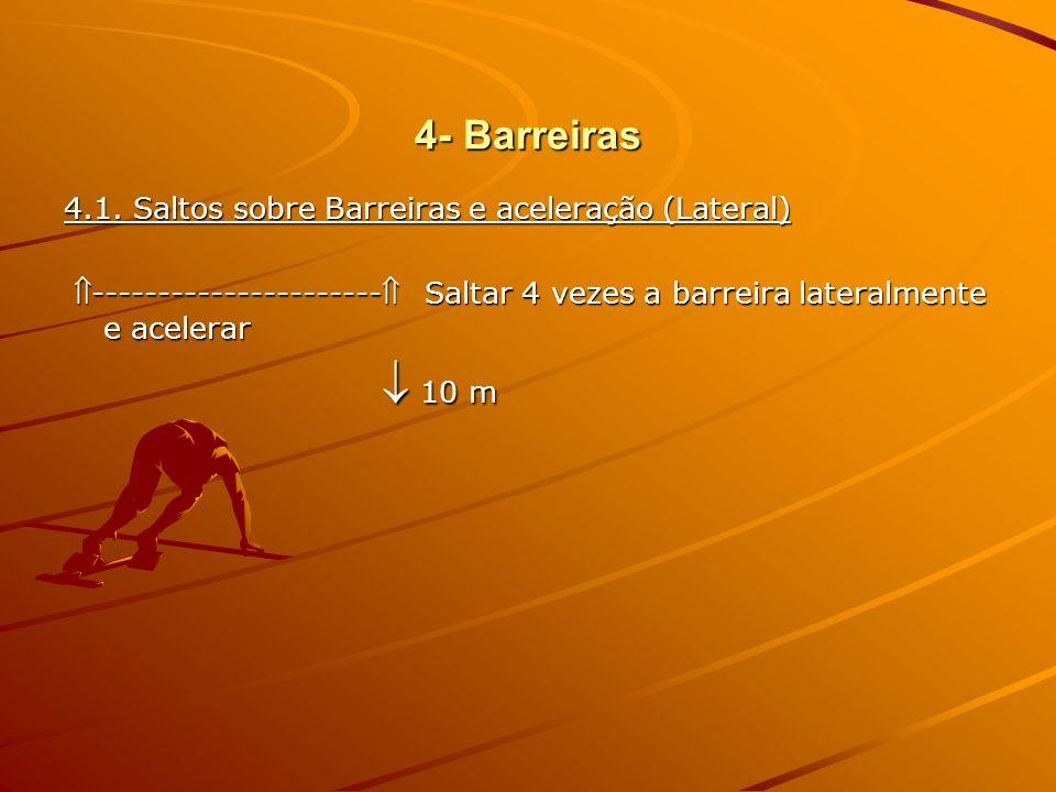 4- Barreiras 4.1. Saltos sobre Barreiras e aceleração (Lateral)