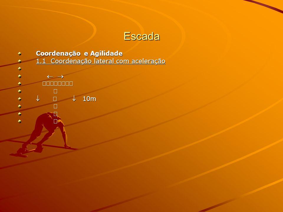Escada Coordenação e Agilidade 1.1 Coordenação lateral com aceleração