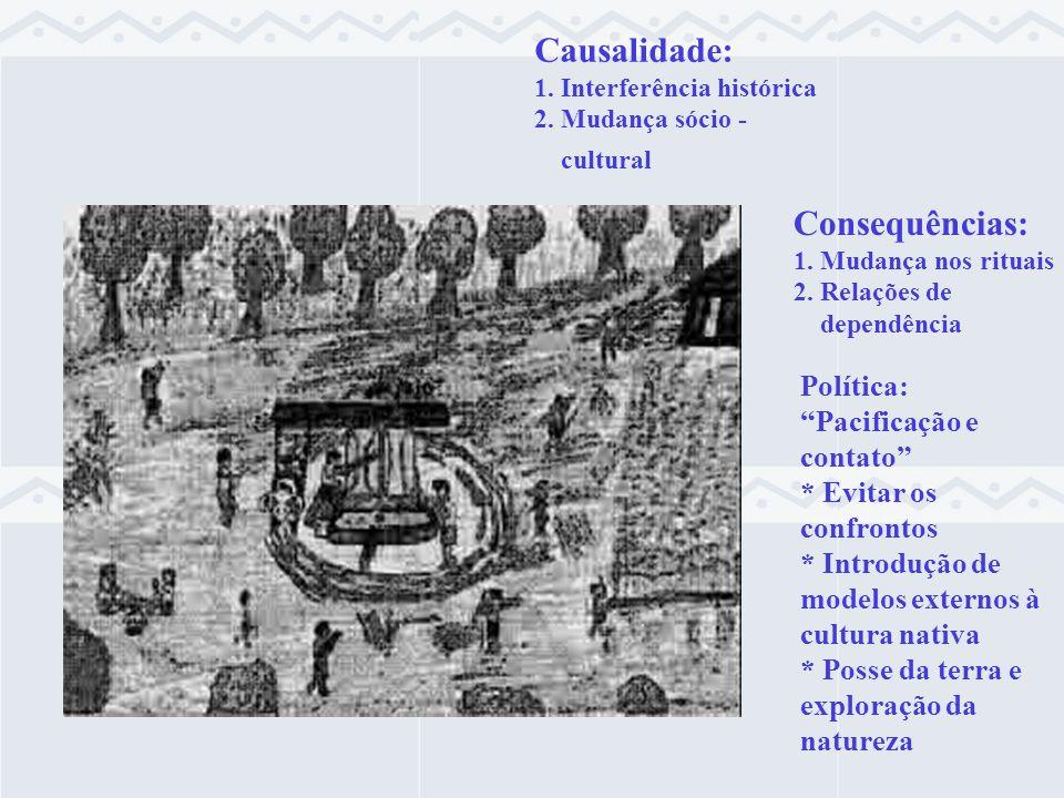 Causalidade: Consequências: Política: Pacificação e contato