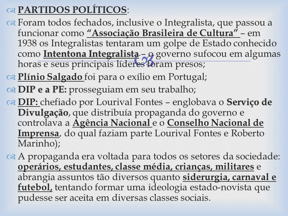 PARTIDOS POLÍTICOS: