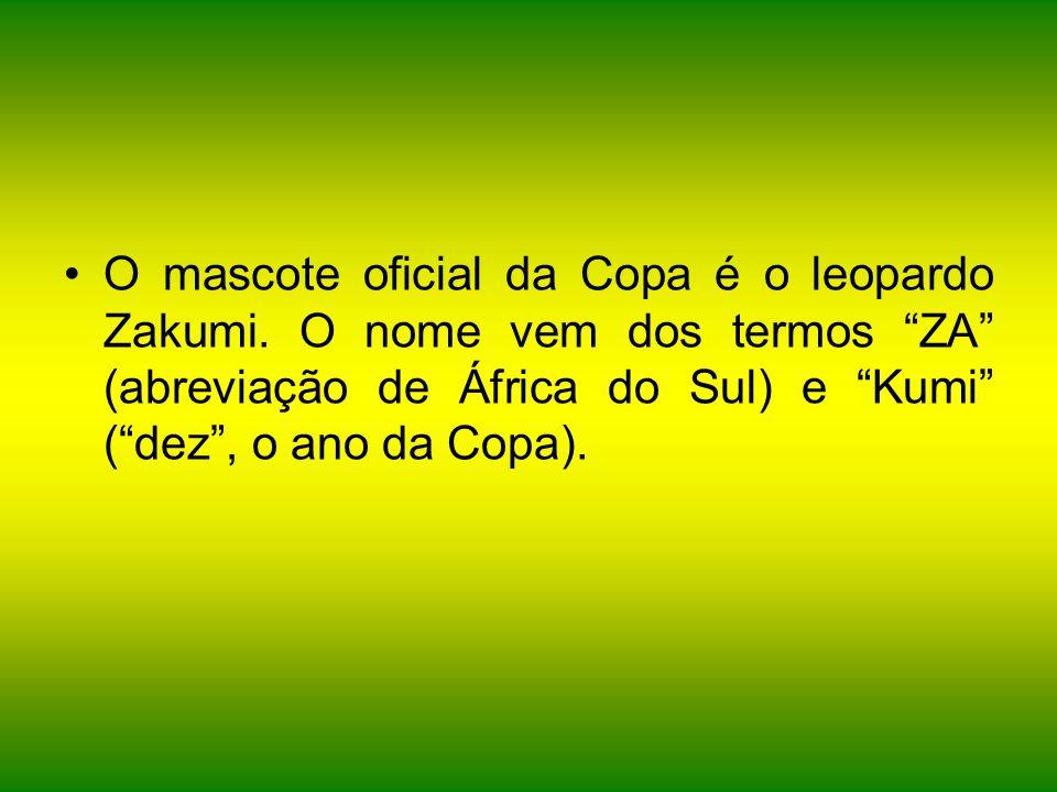 O mascote oficial da Copa é o leopardo Zakumi