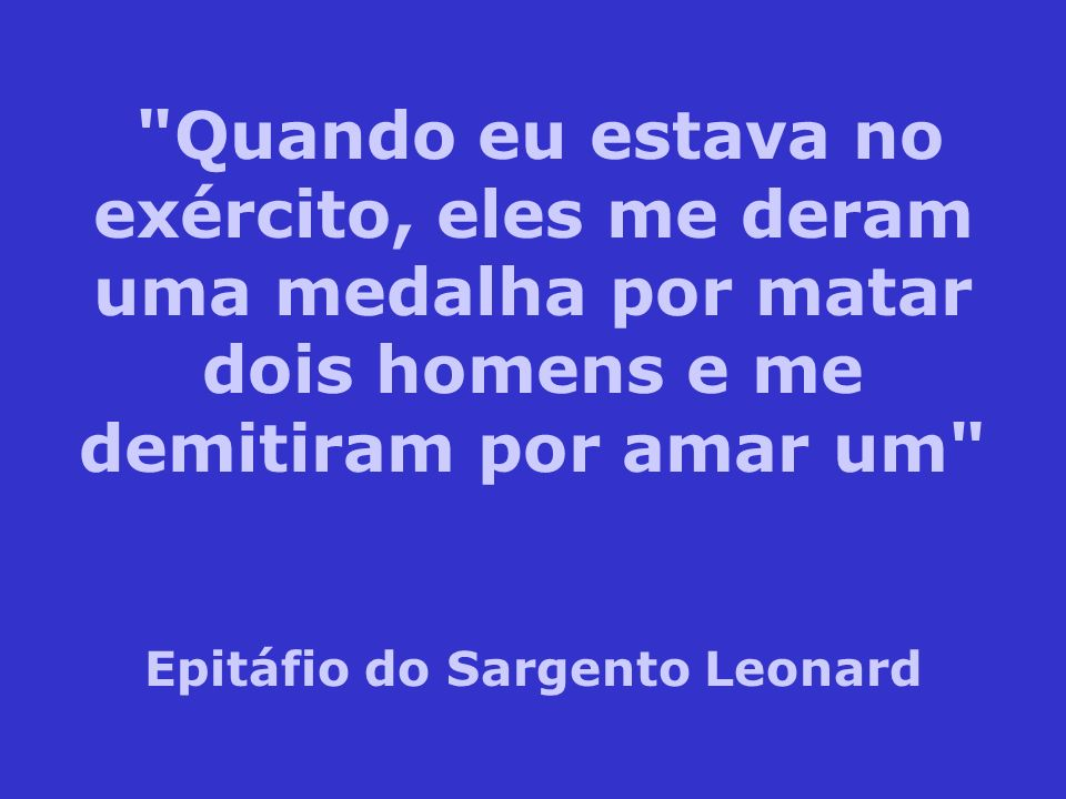 Epitáfio do Sargento Leonard
