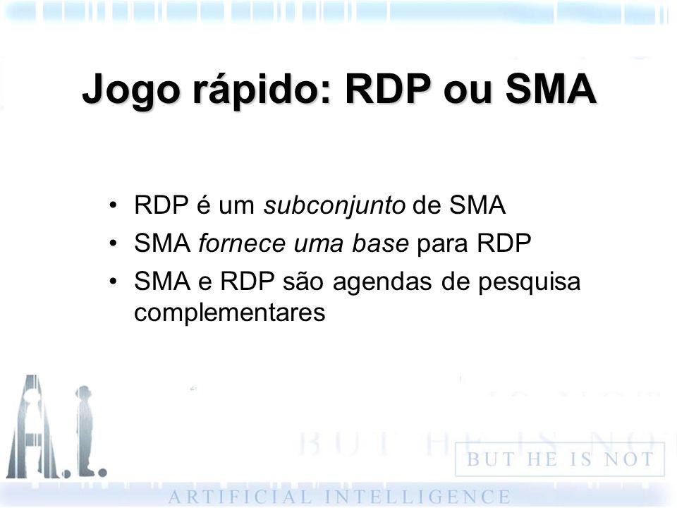 Jogo rápido: RDP ou SMA RDP é um subconjunto de SMA