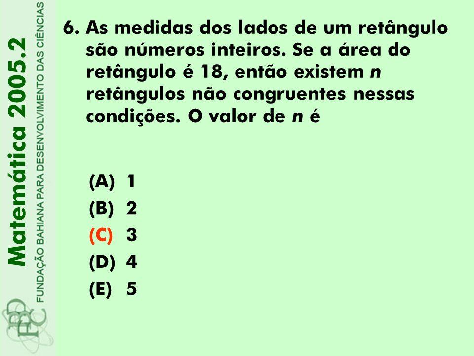 As medidas dos lados de um retângulo são números inteiros