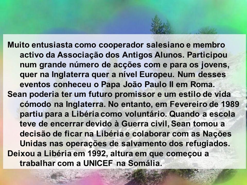Muito entusiasta como cooperador salesiano e membro activo da Associação dos Antigos Alunos. Participou num grande número de acções com e para os jovens, quer na Inglaterra quer a nível Europeu. Num desses eventos conheceu o Papa João Paulo II em Roma.