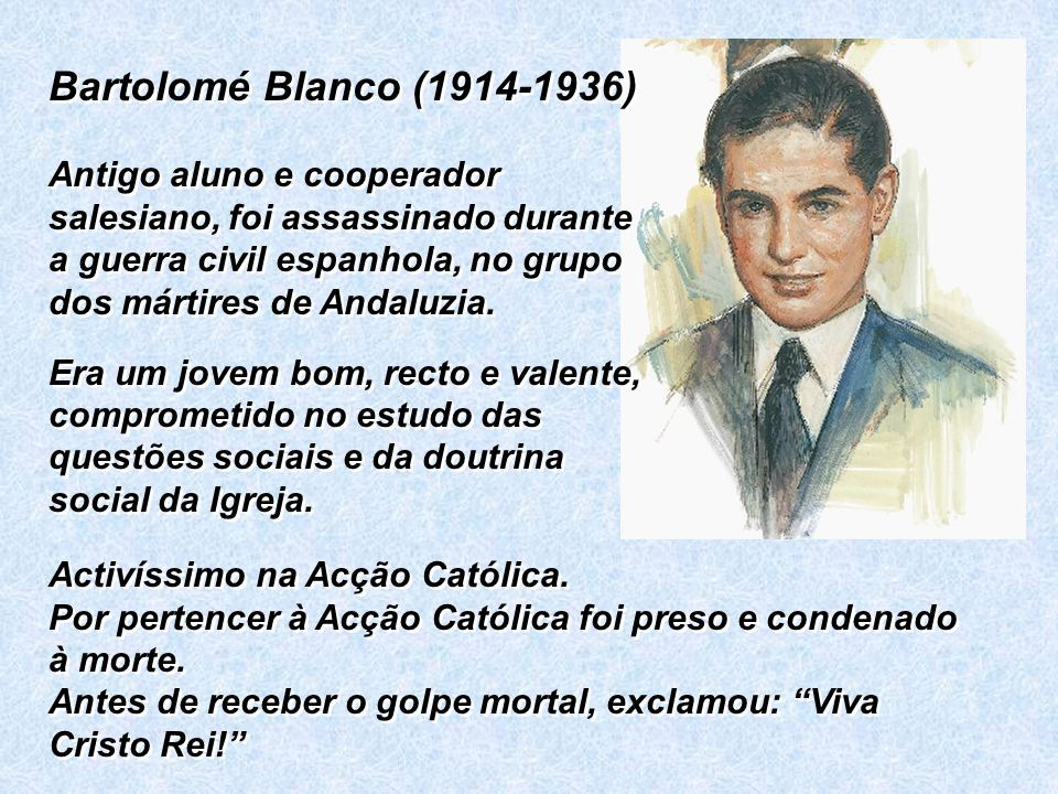 Bartolomé Blanco (1914-1936)