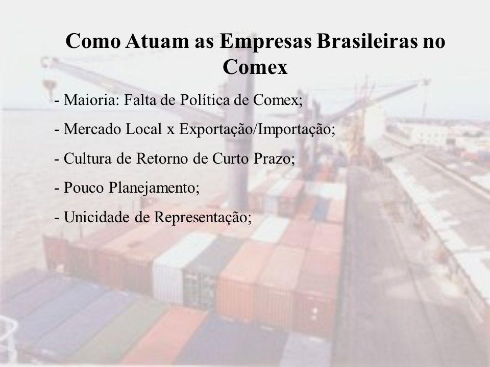 Como Atuam as Empresas Brasileiras no Comex